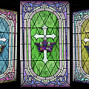 Stained Glass Beauty Poster