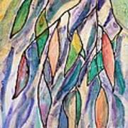 Stained Glass Leaves #2 Poster