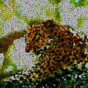 Stained Glass Leopard 2 Poster