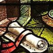 Stained Glass Scroll Poster