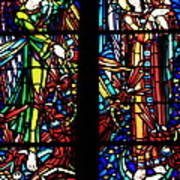 Stained Glass Window At Mont  Le Saint-michel Poster