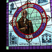Stained Glass Window In Mother Bethal Church            Poster