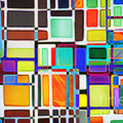 Stained Glass Window Multi-colored Abstract Poster