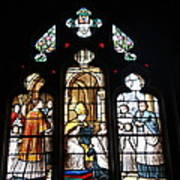 Stained Glass Window V Poster