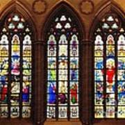 Stained Glass Windows At Saint Josephs Cathedral Buffalo New York Poster