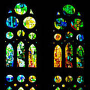 Stained Glass Windows - Sagrada Familia Barcelona Spain Poster