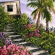 Stairway Garden Poster