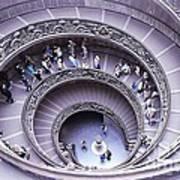 Stairway In Vatican Museum Poster