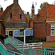 Stairway To Enkhuizen From The Dike-netherlands Poster