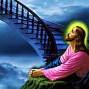 Stairway To Heaven Poster by Karen Showell