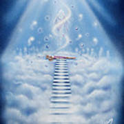Stairway To Heaven Poster by Nickie Bradley