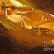 Stalactites And Stalagmites In Cave Ibiza Poster