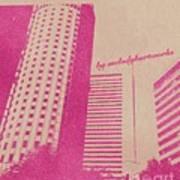 Stamp Ver Of Osaka Umeda Poster