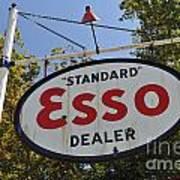 Standard Esso Dealer Poster