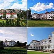 Stanley Hotel In Estes Park Colorado Collage Poster