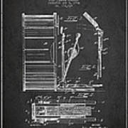 Stanton Bass Drum Patent Drawing From 1904 - Dark Poster