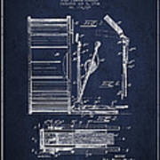 Stanton Bass Drum Patent Drawing From 1904 - Navy Blue Poster