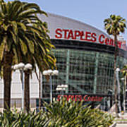 Staples Center In Los Angeles California Poster by Paul Velgos