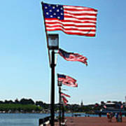 Star Spangled Banner Flags In Baltimore Poster