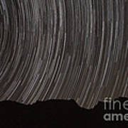 Star Trails Above A Valley Poster by Amin Jamshidi