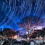 Star Trails On Acid Poster