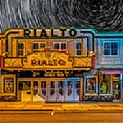 Star Trails Over The Rialto Poster