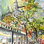 Starbucks Cafe In Budapest Poster