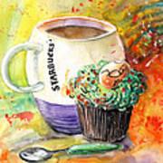 Starbucks Mug And Easter Cupcake Poster
