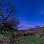 Starry Night Above Hadrians Wall Poster