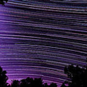 Starry Night In Ithaca New York Star Trail Photography Poster