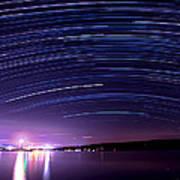 Starry Night On Cayuga Lake Poster