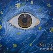 Starry Night With Eye  Poster