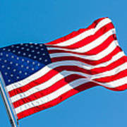 Stars And Stripes Waving Poster
