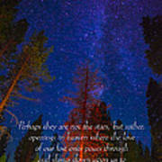 Stars Light Star Bright Fine Art Photography Prints And Inspirational Note Cards Poster