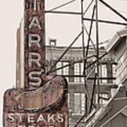 Stars Steaks Frys And Burgers Poster