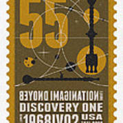 Starschips 55-poststamp -discovery One Poster by Chungkong Art