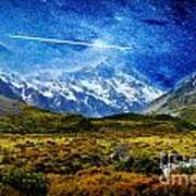 Stary Night Over Highlands Poster
