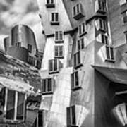 Stata Building 1 Bw Poster