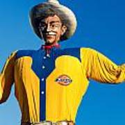 State Fair Of Texas Big Tex Yellow Poster