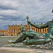Statue In Front Of Versailles Poster