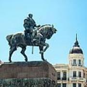 Statue In Montevideo Uruguay Poster