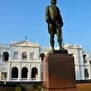 Statue Of Gregory Outside National Museum Colombo Sri Lanka Poster