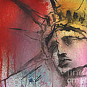 Statue Of Liberty New York Painting Poster