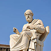 Statue Of Plato Poster