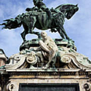Statue Of Prince Eugene Of Savoy In Budapest Poster