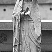 Statue Rosery Mary - Cemetery Sentry Poster