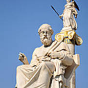 Statues Of Plato And Athena Poster