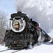 Steam At Tobyhanna Poster