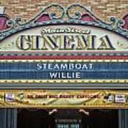 Steam Boat Willie Signage Main Street Disneyland 01 Poster