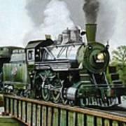 Steam Engine Locomotive Poster